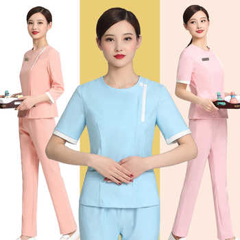Foot bath technician uniform short sleeve suit health pedicure club uniform beauty salon cosmetologist clothing - DISCOUNT ITEM  0 OFF All Category
