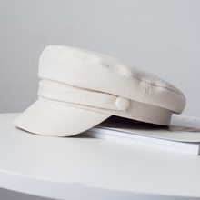 Кепи картуз женский фуражка Кепка восьмиугольный берет солнцезащитный козырек весна и осень хлопок темно-синяя шляпа Женская стерео дикая Англия зимние шапки для женщин Кепка s