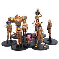 Anime 9PCS ONE PIECE Luffy Chopper Vinsmoke Sanji Roronoa Zoro Nami Full Limited Edition Action Toy Figures Christmas Gift