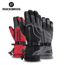 ROCKBROS – gants de Ski thermiques et imperméables, pour Snowboard, moto, coupe-vent, 30 degrés, randonnée, hiver