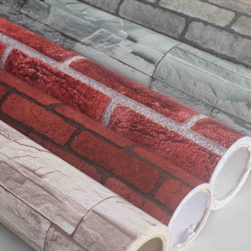 Waterproof Brick Pattern Self-Adhesive Wallpaper Imitation Brick Adhesive Paper Self-adhesive Wallpaper Restaurant Shop Living R
