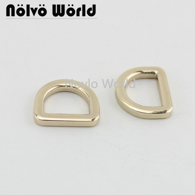6 Pieces,inner Width 16*12.5mm, Metal D Ring Bag Handle Buckles Women Handbag Lock Flat Line Buckle Diy Hardware Accessories