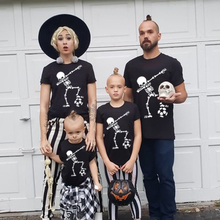 1pcs Dabbing Skele Football Halloween Family Tshirts Mother Father Daughter Son