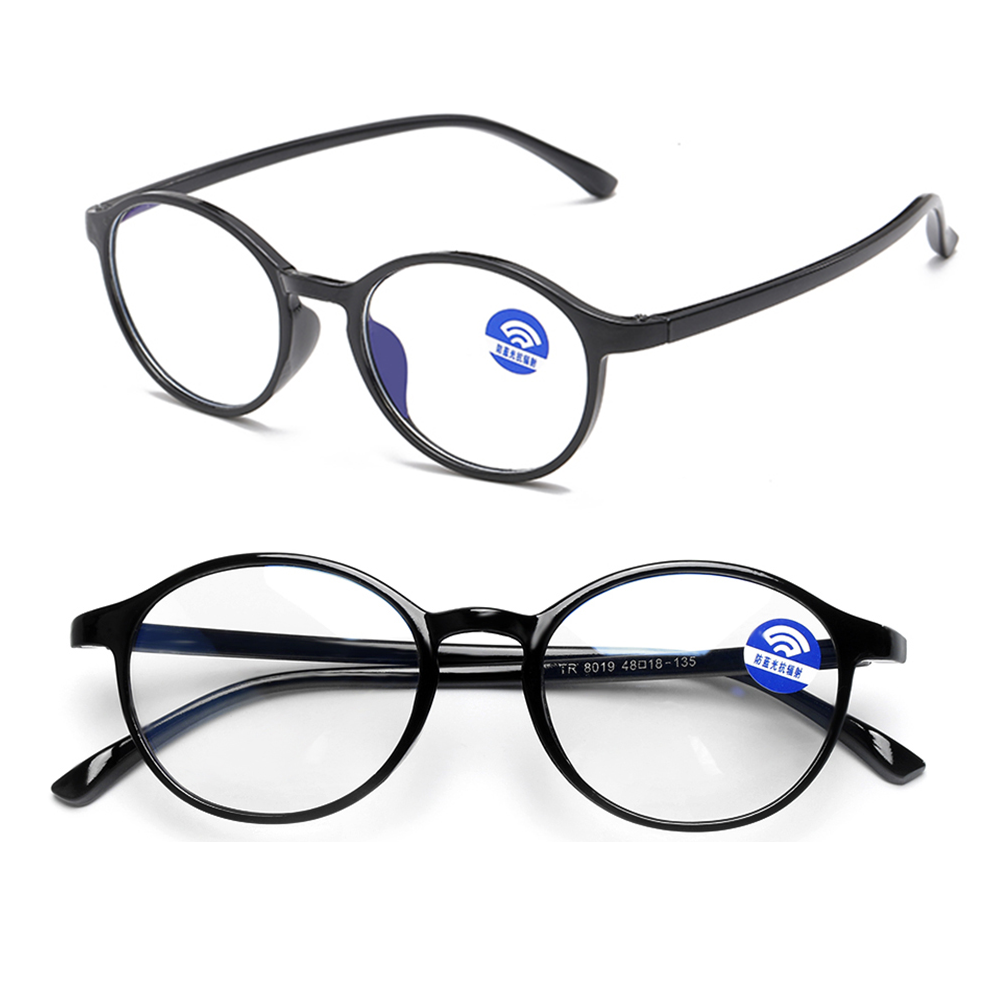 Blue Light Blocking Computer Glasses Round TR90 Reading Glasses Computer Radiation Protection Eyewear Ultralight Vision Care