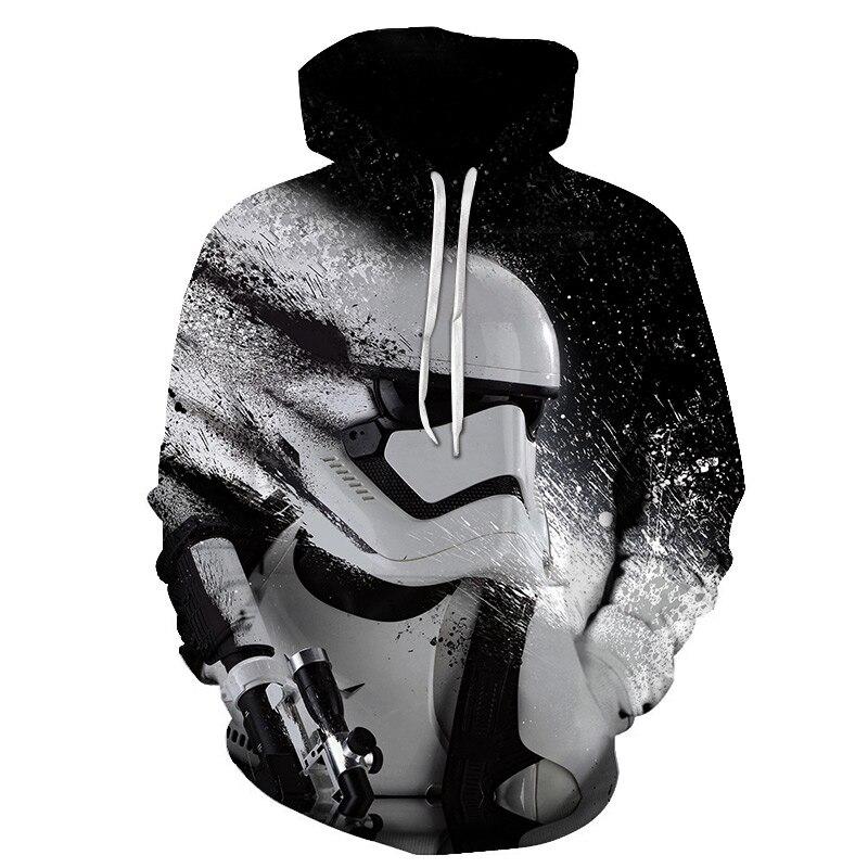 Hoodie Movie Star Sweatshirt 3d-Printing Casual Cosmos Download Men's War