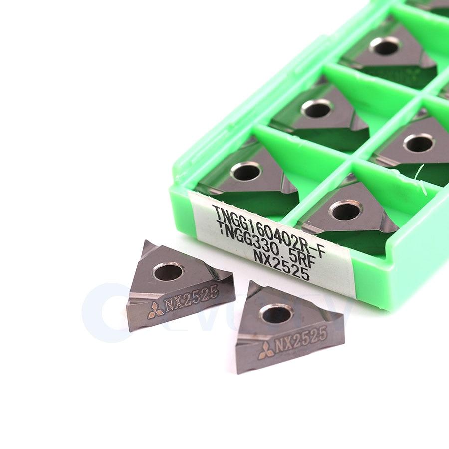 TNGG160402R-F TNGG160404R-F TNGG160402L-F TNGG160404L-F NX2525 100% D'origine Plaquettes Carbure CNC Métal Outil Outils