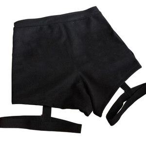 Image 5 - Summer Sexy Ladies Shorts High Waist Punk Rock Bandage Hollow Out Dance Show Party Club Hot Short Pants  Women Shorts Street