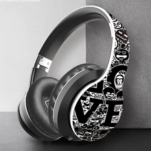Hand drawn style Comfortable Wireless Headset Bluetooth Earphone Power Bass Headphone For Mobile Phone Music Calls