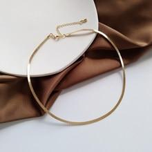 Moda colar de corrente de jóias design popular na moda temperamento única camada gargantilha colar para presentes de jóias femininas
