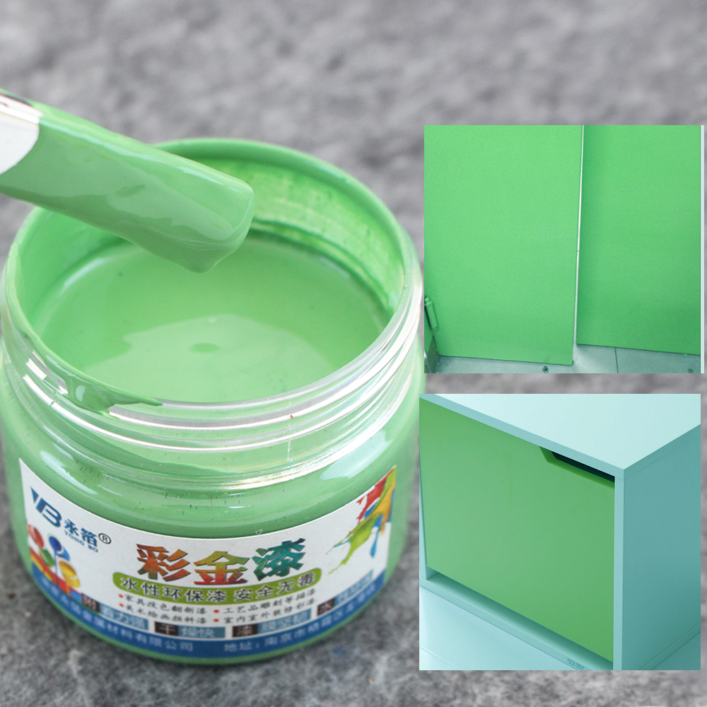 Light Green Wood Varnish Acrylic Lacquer Coloring Painting Water-based Paint for Fabric Furniture Wall Ceramic Metal 100g