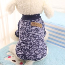 1 pc Dog Clothes Small Medium Soft Sweater Clothing Colorful Autumn Winter Warm For The poodle Pet dog