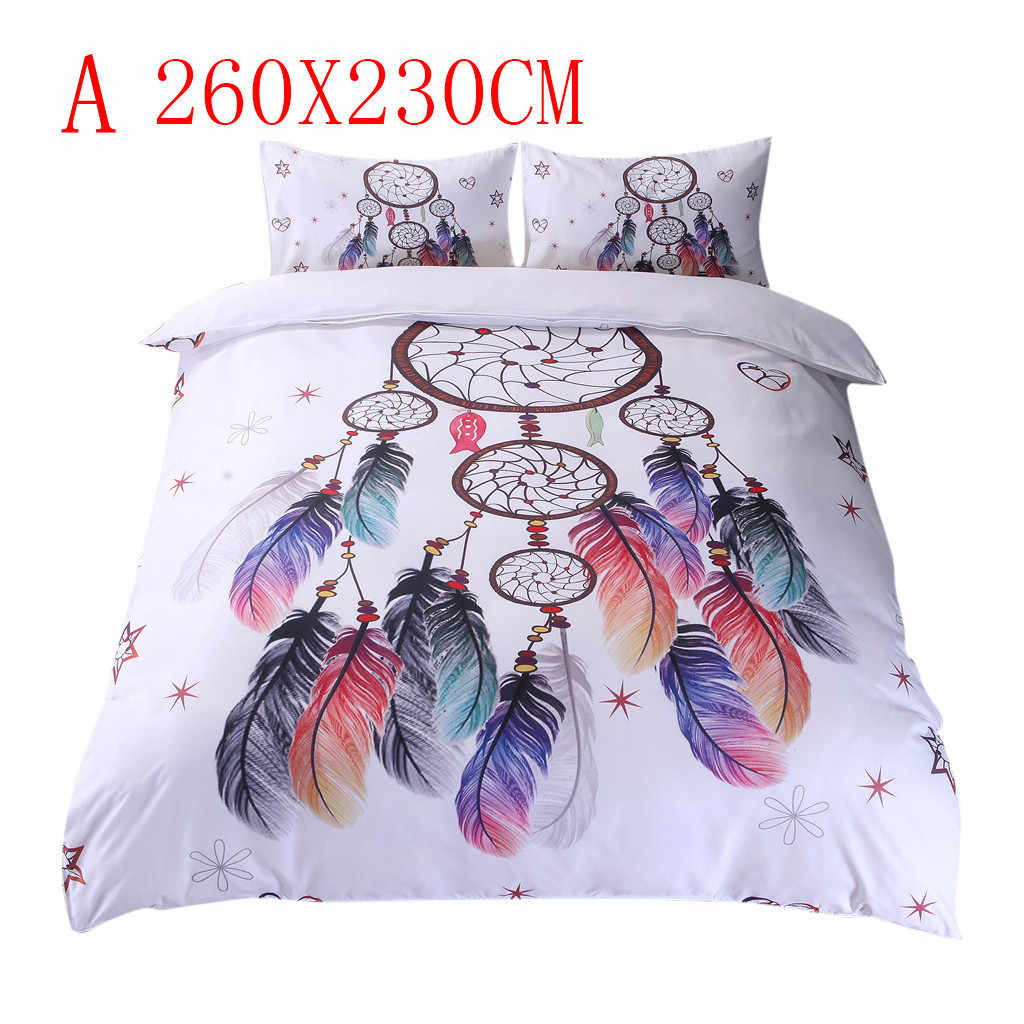 NAI YUE Duvet CoverFloral Colorful Dreamcatcher Bedding Three-piece Set Hipster Bohemian Style Bed Clothes Modern Style #45