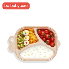 Divided-Plates Food-Grade Baby Kids Separate Feeding-Tray 3-Section Bpa-Free Toddlers