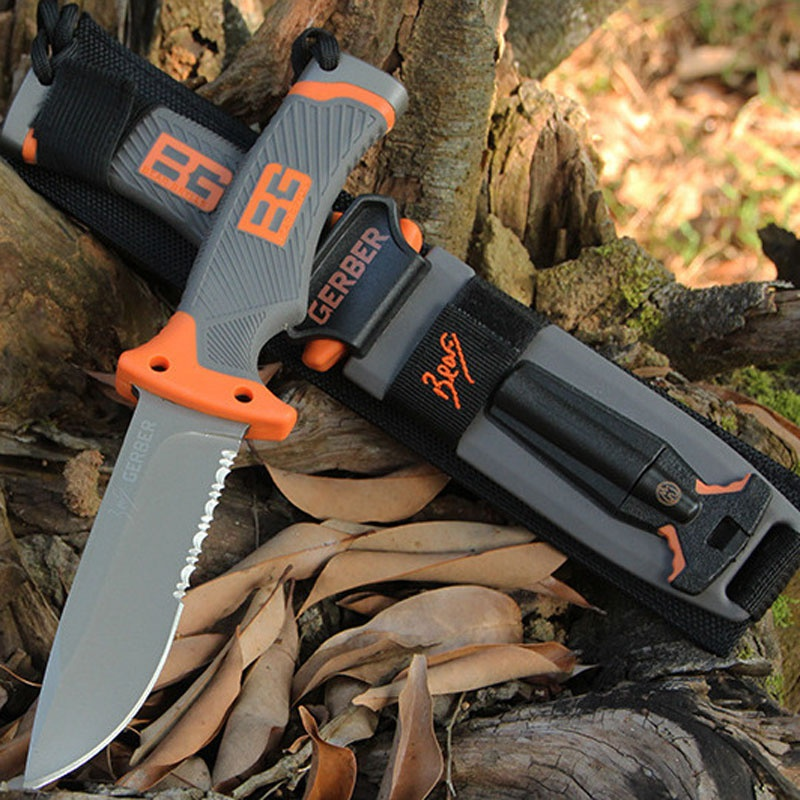 Gerber Fixed Blade Bear Grylls Survival Knife 4.8