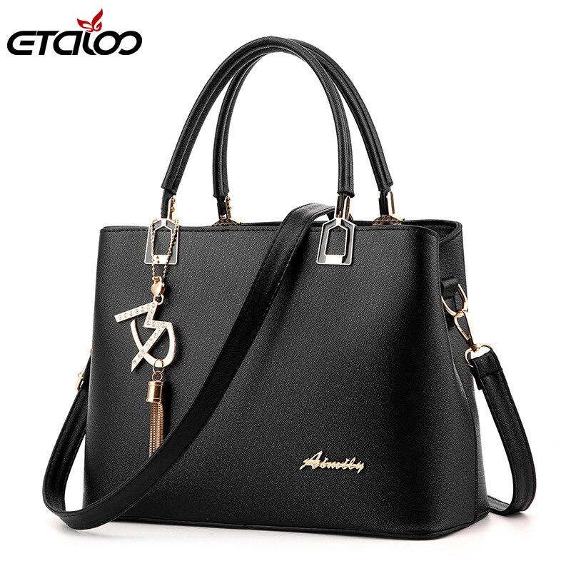 2019 New Style Women Bag Handbag Tote Over Shoulder Crossbody Leather Big Brand Black Brown Casual Designer Female Bolsas