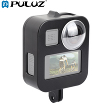 PULUZ Housing Shell Case Cover CNC Aluminum Alloy Protective Cage For GoPro Max &  Lens cap