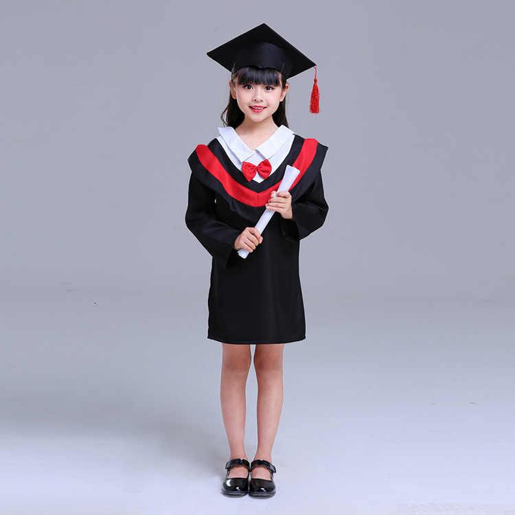 Детский костюм бакалавра, школьная форма для девочек и мальчиков, костюм для костюмированной вечеринки, Детская школьная одежда