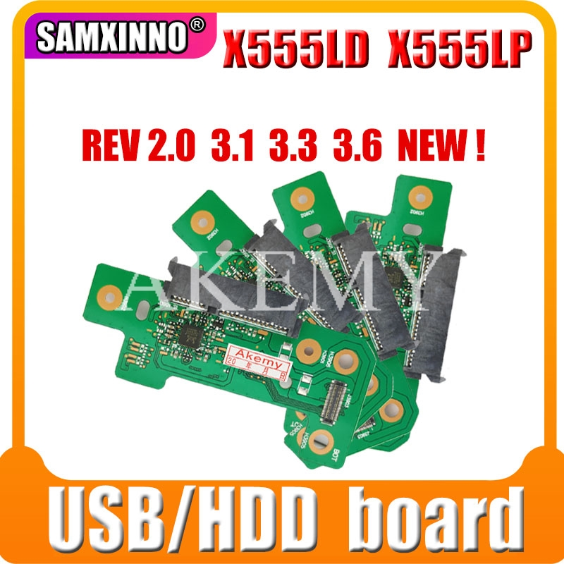 For ASUS X555LD K555L A555L X555LJ R556L X555LB X555LP F555L X555LN Interface And HDD Hard Drive Board And IO USB AUDIO
