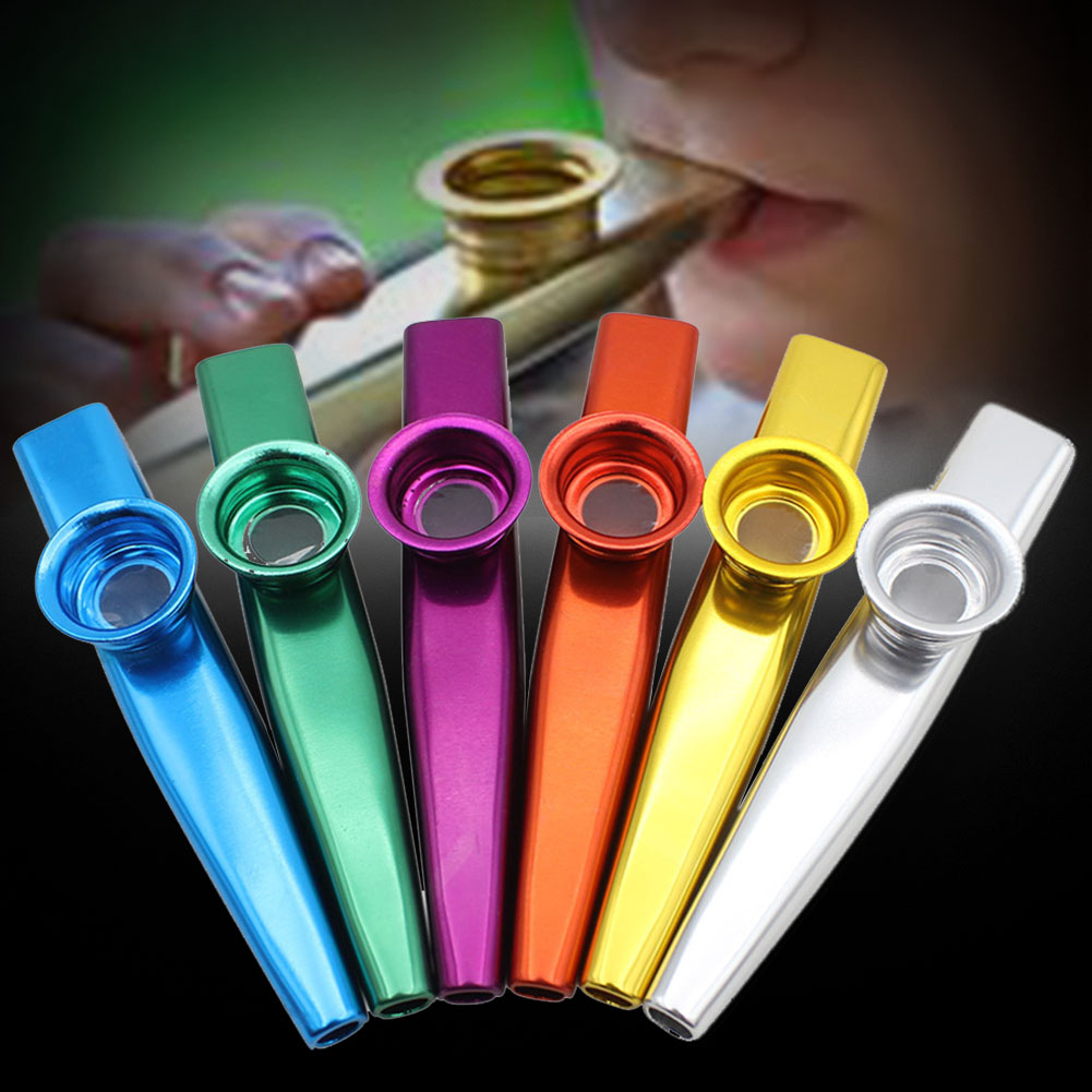 6 Pcs Party Supplies Durable Band Use Non-toxic Melodic Metal Gift Kazoo Set Funny Musical Instrument