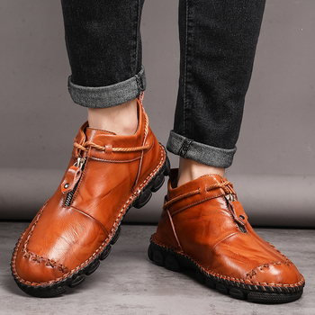 Cedakeline  of  Men's casual shoes  2019 winter new Korean version of the trend of men's shoes leather wild shoes tide shoes men