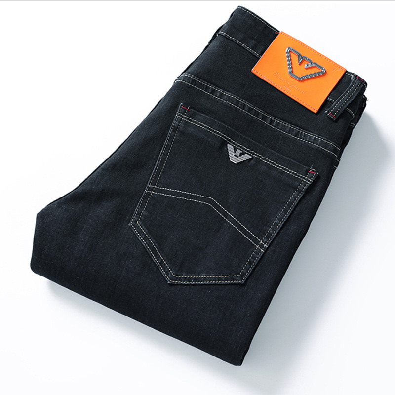 AJ Into MEN'S Jeans Straight Slim Autumn And Winter New Products Jeans Men's International Brand Origional
