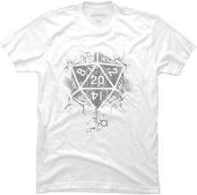 Мужская футболка с графическим принтом D20 of Power