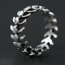 Moda popular criativo rock hip hop retro simples peixe osso masculino e feminino anel universal presente de aniversário festa jóias atacado
