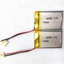 Полимерная литий ионная батарея 3,7 V 602535 500mah аккумуляторная батарея для металлоискателя медицинское оборудование Eletronic устройство