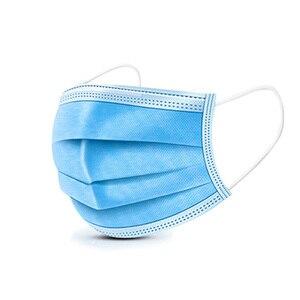 Image 5 - 50pcs חד פעמי מסכת נגד אגל Dustproof אובך לנשימה למבוגרים ילדי שלוש שכבת Meltblown בד 50 מגן מסכות