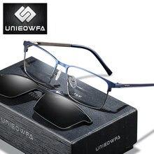 Polarisierte Magnet Clip Auf Brillen Sonnenbrillen Männer Optische Myopie Brillen Bifocal Progressive Anti Blau Licht 1,74