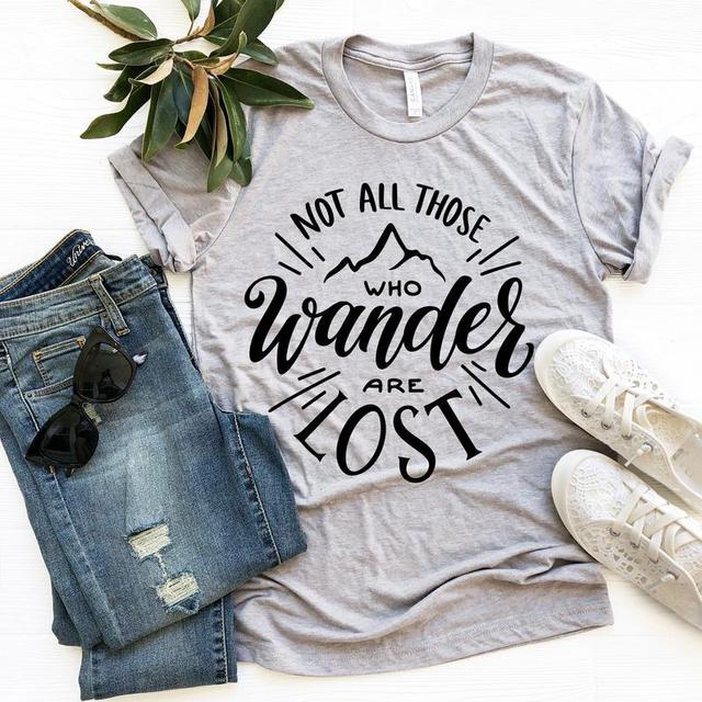 Nicht alle die wandern, sind verloren T-shirt  Frauen Outdoor Baumwolle