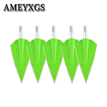 цены 6/12Pcs 150 Grain Archery Arrow Head Arrow Heads Points Broadheads Tips For Bow And Arrow Outdoor Hunting Shooting Accessories