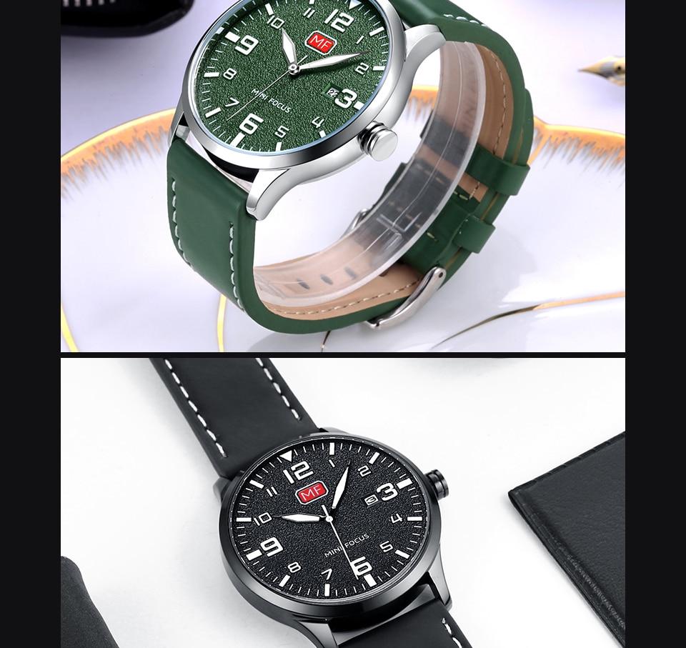 Hbf8a6d6221914076804cb73227a0a5c7W MINI FOCUS Luxury Brand Men's Wristwatch Quartz Wrist Watch Men Waterproof Brown Leather Strap Fashion Watches Relogio Masculino