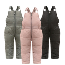 Overalls Children Jumpsuit Girls Winter Thick-Pants Warm Cotton for 1-5 Years Filling