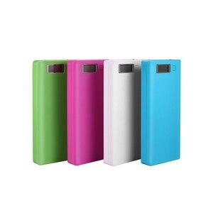 Image 3 - 8*18650 uchwyt baterii podwójny USB Power Bank pojemnik na baterie ładowarka do telefonu komórkowego DIY Shell Case ładowanie Storage Case dla Xiaomi