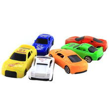 6pcs/set Mini Cute Car Model Cute Vintage Sliding Mini Car Toys Early Educational Toys for Kids Pocket Toys for Boys Children 6pcs lot multicolor plastic cartoon mini pull back boy car model toys set educational toy for children car toys