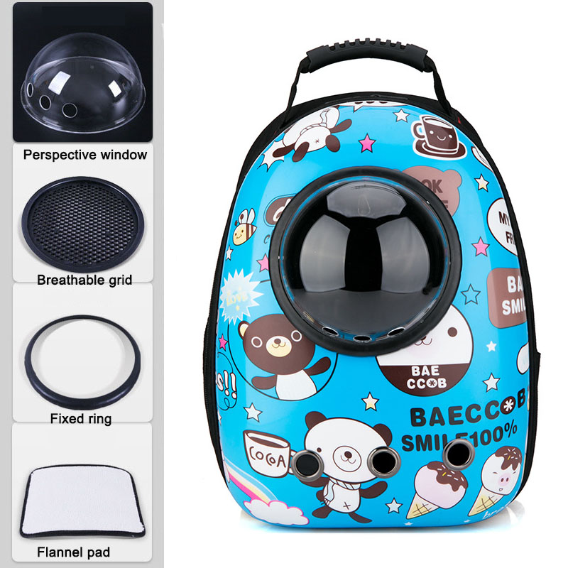 Pet Dog Cat backpack Travel cat carrier Double Shoulder Bag Space Capsule Cat Backpack for Bag Small Pet Handbag Cat carrying 5