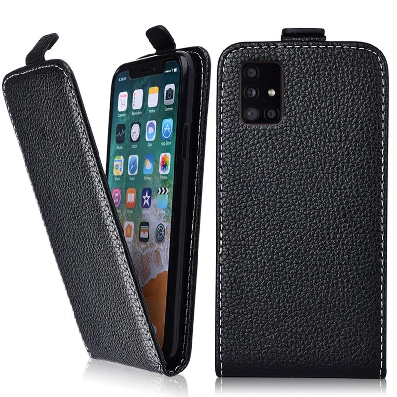 Vintage Flip Fall Für Samsung Galaxy A71 5G Abdeckung Galaxy A71 5G Nette Leder Telefon Tasche Plain Fall für Samsung A71 5G EINE 71 Fall