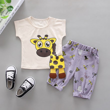 Newborn Baby Boy Clothes Baby Boy Outfit Casual Cotton Print Cartoon T-shirt + Pant 2pcs Kids Sports Suits For Baby Boy Clothing cotton 2pcs newborn clothes cute cartoon baby boy clothes tops pants outfit suits baby tracksuit set t08