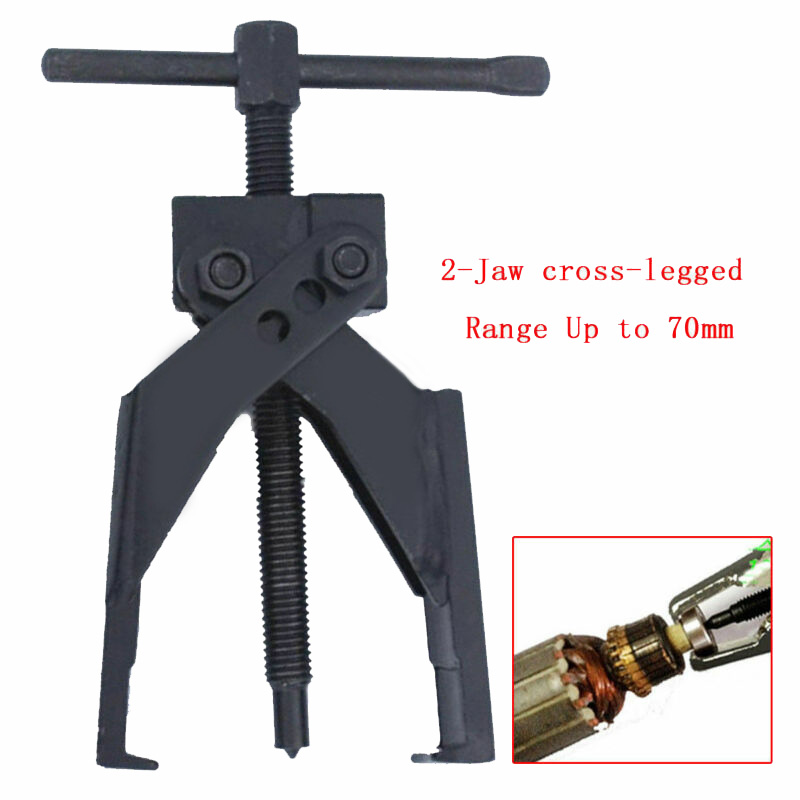 Up To 70mm Gear Bearing Puller 2-Jaw Extractor Pilot Remover Tool Corrosion-resistant For Car SUV Truck 2-Jaws Bearing Puller