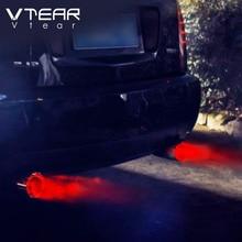 Vtear universal silenciador do escape do carro ponta/tubo de aço inoxidável led vermelho/azul luz modificação carro acessórios cauda garganta