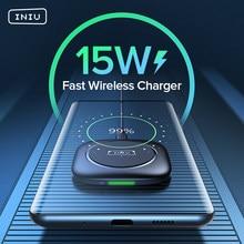 INIU 15W Qi Drahtlose Ladegerät LED Schnelle Lade Pad Für iPhone 12 11 Pro Max Xs Xr X 8 plus Samsung S20 S10 S9 Hinweis Huawei Xiaomi