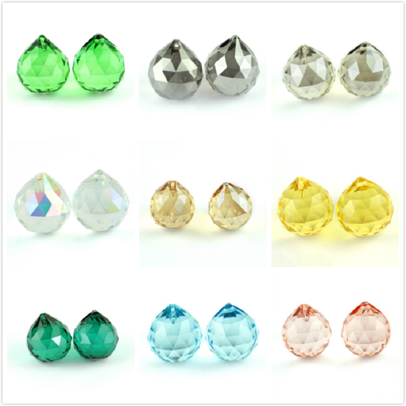 15mm/20mm/30mm/40mm All Colors Crystals Glass Ball For Chandeliers Shinning Prism Suncatcher For Sale