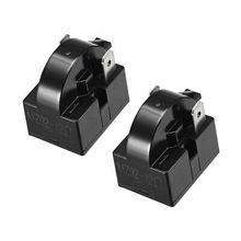 2 Pcs 12 Ohm 2 Pin Refrigerator PTC Starter Relay Black 2 pcs 15 ohm 1 pin refrigerator ptc starter relay black
