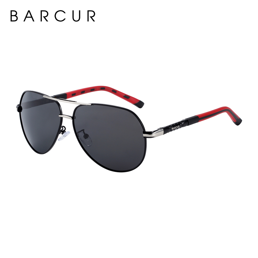 BARCUR Aluminum Magnesium Men's Sunglasses Men Polarized Coating Mirror Glasses oculos Male Eyewear Accessories For Men 5