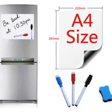 Магнитная доска формата А4, магниты на холодильник, доски для презентаций, для дома, кухни, доски для записей, магнитные Стикеры, 1 ластик, 3 ручки