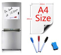 A4 Размер магнитной доски магниты на холодильник презентационные доски для дома кухня доски сообщений письма магнитные стикеры 1 ластик 3Pen