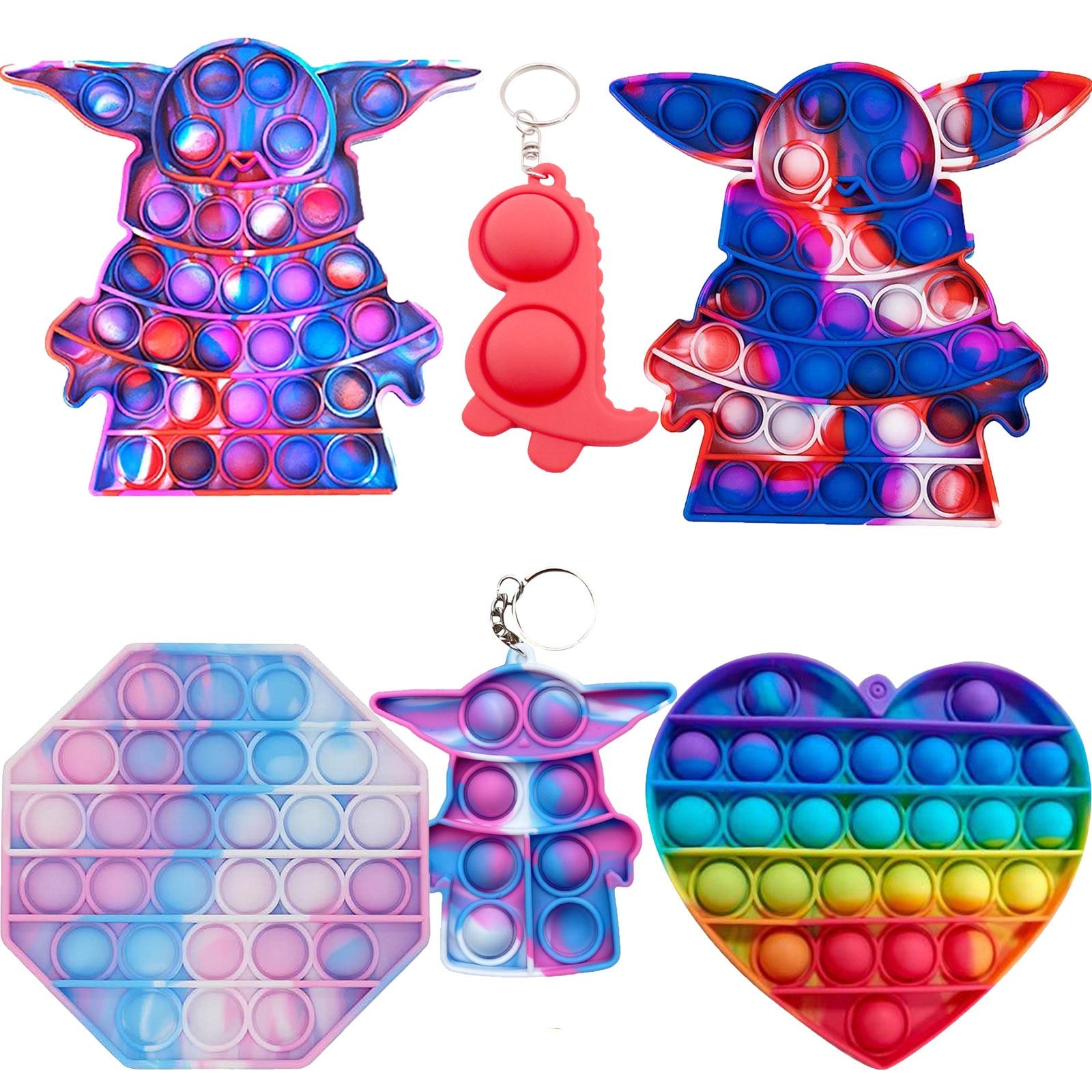 120 видов для детей и взрослых улыбающегося игрушка Давление снятие контроллер развивающая игрушка для аутистов игрушки Brinquedos ребенка, анти...