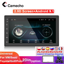 Camecho 2 din Car Radio Android Car Aoturadio GPS WiFi Bluetooth MirrorLink Car Multimedia Player for Universal 2din Car Stereo