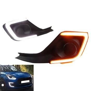For Suzuki Swift 2017 - 2019 12V Car Daytime Running Light Car Turn Signal Fog Lights Car Refit Lights